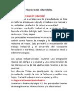 2. Las Revoluciones Industriales.