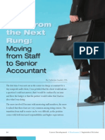 View From the Next Rung -- Moving From Staff to Senior Accountant