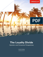 The Loyalty Divide, Operator and Consumer Perspectives, Hotels 2018