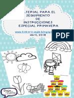 Seguimiento de Instrucciones especial primavera