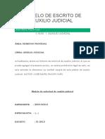 Modelo de Escrito de Auxilio Judicial