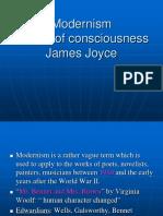 Modernism,Stream of Consciousness James Joyce