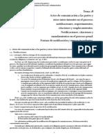 Tema 28 Actos de Comunicación a Las Partes y Otros Intervinientes en El Proceso