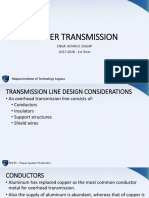 Module 8 - Power Transmission, Voltage Classes,Line Design Parameters Underground Transmission