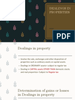 Dealings in Properties