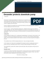 Desander Protects Downhole Pump - Oil & Gas Journal