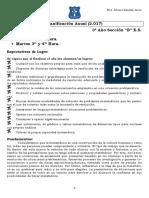 Planificación 3º B Matermática ES 2017 (Santa Rosa de Lima) Prof. Eduardo Álvarez