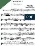 Tchaikovsky Canzonetta Violin
