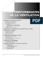 les performance de la ventillation