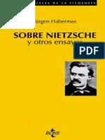 Habermas Sobre Nietzsche