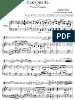 Tchaikovsky Canzonetta Score