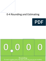 0-4 Rounding and Estimating