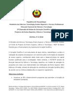 Edital Bic PDF - 2018