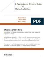 ppt on directors rights and duties or liabilities