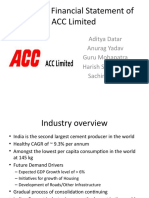 Analysis of Financial Statement of ACC Limited V0.2Visit Us @ Management.umakant.info