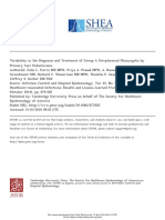 Variability in the Diagnosis and Treatment of Group A