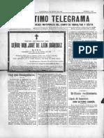 Periódico de Algeciras El Ultimo Telegrama  día 6 de Enero de 1898
