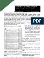 Tata Institute of Social Sciences-PG Programmes 2011-2013