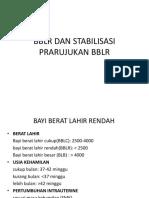 Bblr Dan Stabilisasi Prarujukan Bblr
