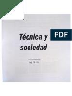 Tecnica y Sociedad. J Bustamante