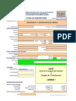 Ficha de Inscripción Residencia y Supervisión de Obras