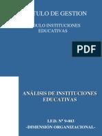 Análisis de Las Instituciones Educativas