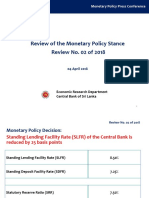 News Monetary Policy Review - No. 2 of 2018 Central bank of Sri Lanka