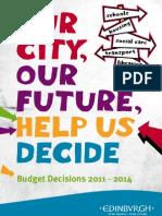 City of Edinburgh Council—Budget Decisions 2011–2014