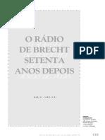 A Rádio de Brecht 70 Anos Depois