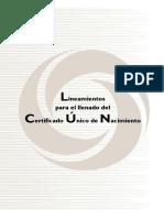Manual Sinac Para El Llenado Del Certificado Unico de Nacimiento