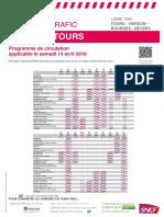Tours-Vierzon-Bourges-Nevers 14 avril