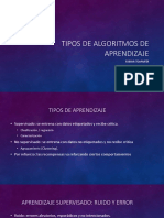 Tipos de Algoritmos de Aprendizaje