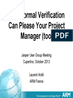How Formal Verification Can Please Your Project Manager