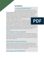 Comandos de DiskPart