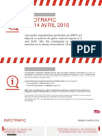 CP SNCF - Trafic Territoire Lorrain Du 14 Avril 2018