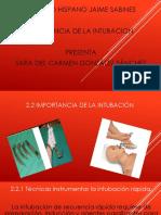 Intubacion, Sara Gonzalez Sanches