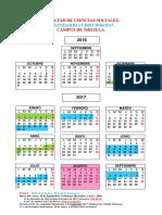 Calendario 2016-2017 Oficial Facultad de Ciencias Sociales de Melilla