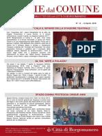 Notizie Dal Comune di Borgomanero del 12 Aprile 2018