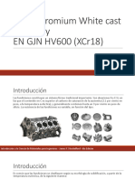 High-Chromium White cast Iron alloyEN GJN HV600 (XCr18)