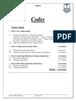 Lecture 1_Codes & Specs_2013 09 28