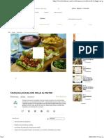 Receta de Tacos de Lechuga Con Pollo Al Pastor