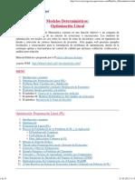 4 Modelos Deterministas