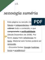 Mitologia Suméria – Wikipédia, A Enciclopédia Livre