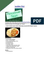 15 Contoh Procedure Text