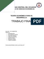 Innovación en El Cambio de La Matriz Productiva - Caso Ecuador
