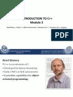 Module 3 - Intro to C++
