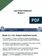 Module 4 -  C++ Basic IO_2015