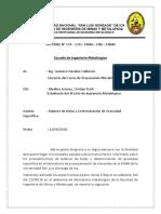 Informe Nro 4 (Determinacion de Bolas, Determinacion de La Gravedad Especifica) (Medina Arones Cristian Erick) Lll Ciclo