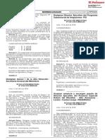 RESOLUCION MINISTERIAL N° 0160-2018-MINAGRI