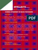 summer internship on image processing intellectz11